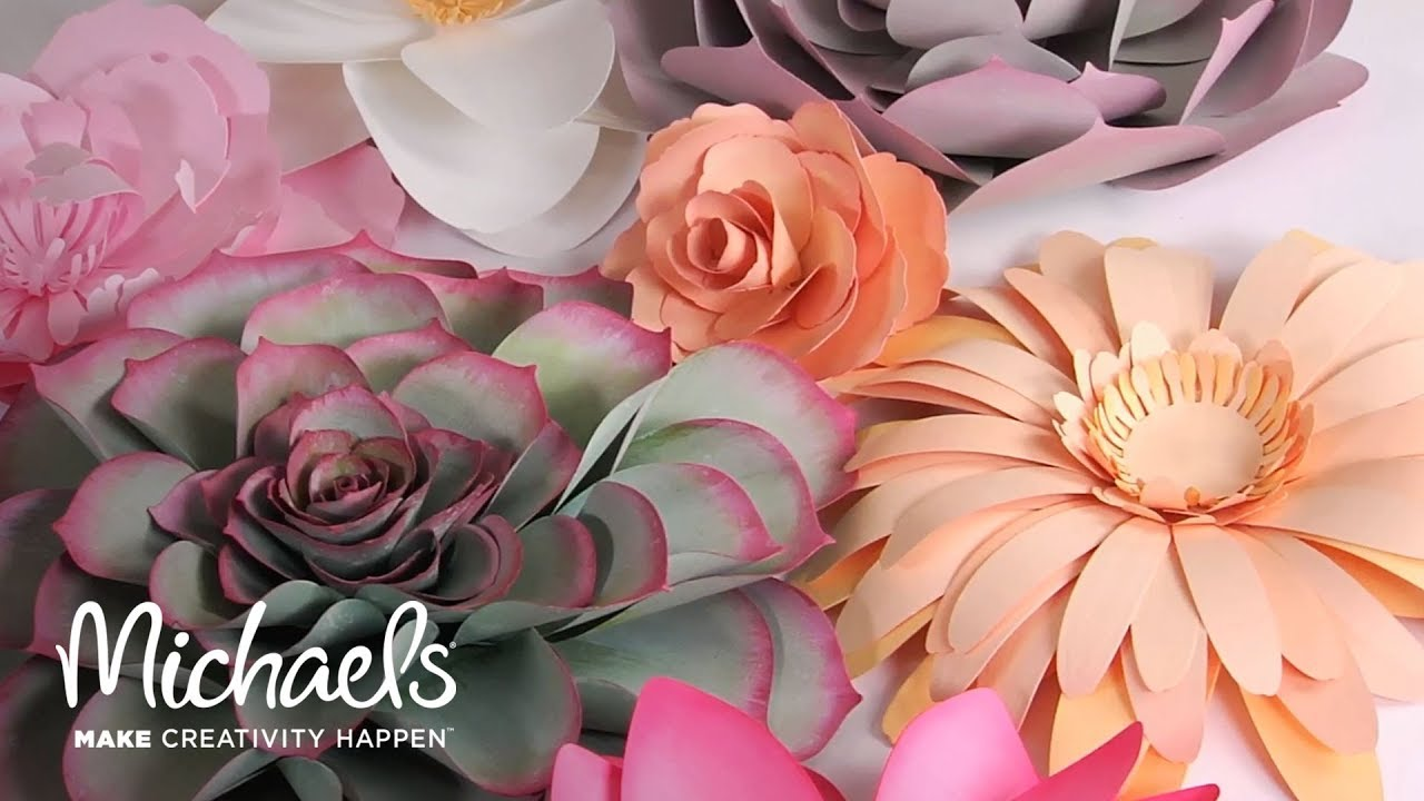 Make Your Own Paper Flowers With Sizzix Michaels Youtube
