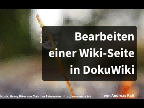 Bearbeiten von Wiki-Seiten in DokuWiki - YouTube