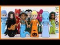 Disney Princesses in Halloween Costumes - LEGO Minidoll Style