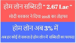 Subsidy on Home Loan 2018, Subsidy on Pradhan Mantri Awas Yojana.