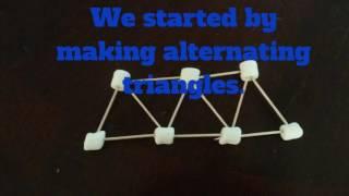 marshmallows and toothpick bridges