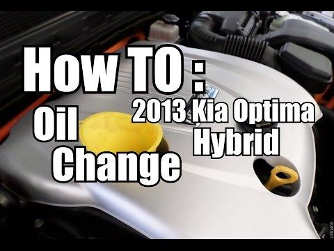 How To Kia Optima Hybrid Oil Change