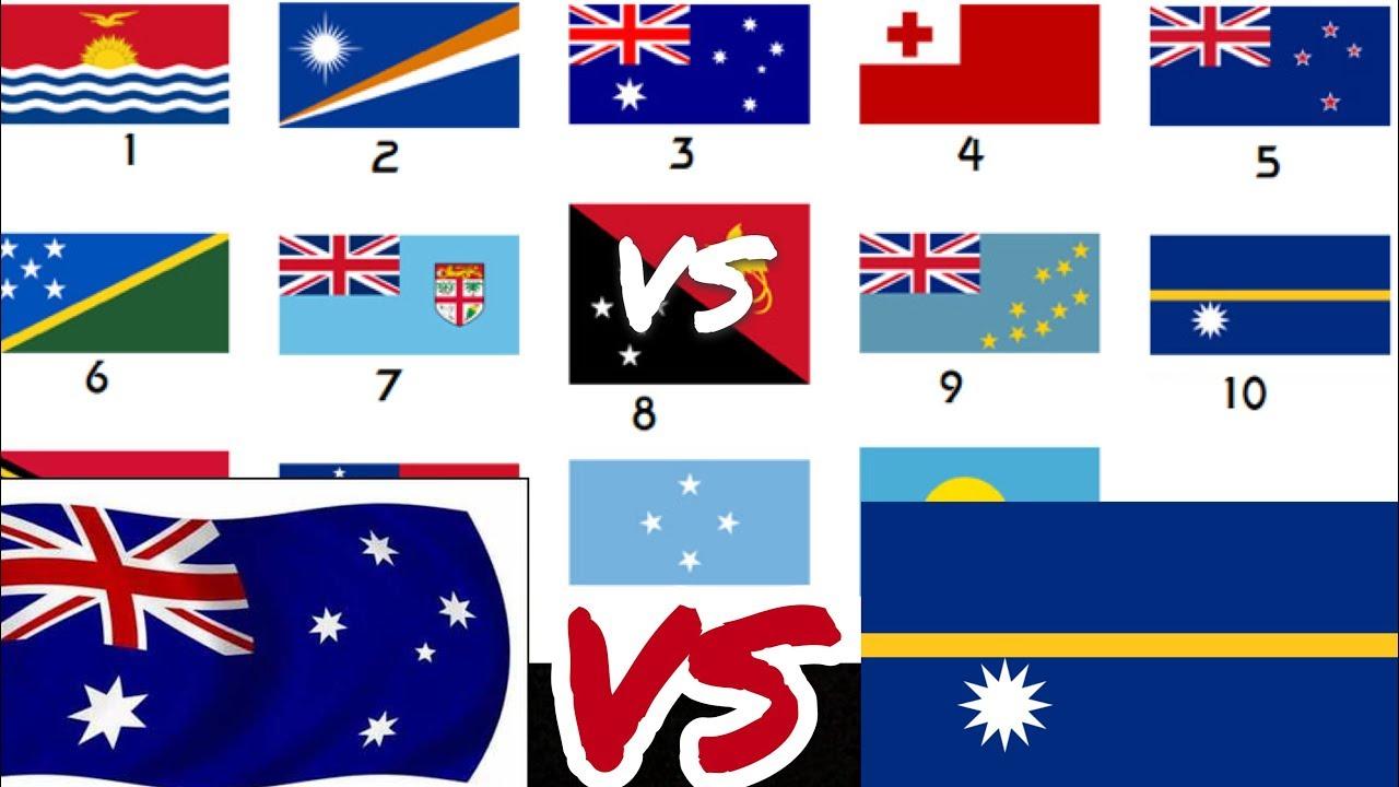 أكبر دولة إلى أصغر دولة في قارة أستراليا Youtube