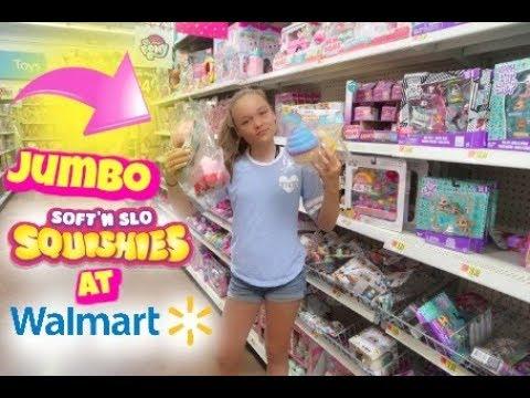 Squishy Maker Toys R Us : NEW JUMBO SOFT N SLO SQUISHIES AND NICKELODEON SLIME AT WALMART! - YouTube