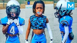 8 Year Old American Football Phenom Jaylen Huff  Muscle Madness