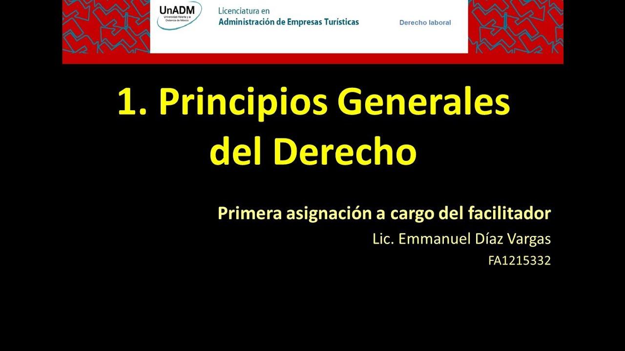 1) Los Principios Generales del Derecho. AET-DL - YouTube