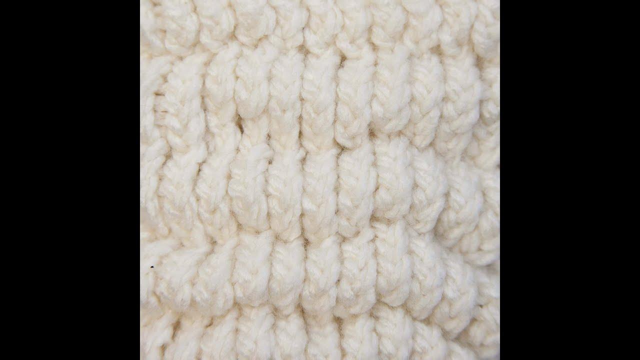 Puff Stitch Loom Knitting Youtube