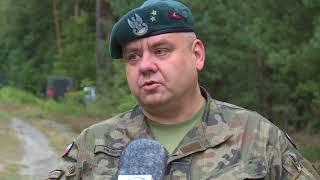 Niewybuchy w lesie koło Jędrzychowa