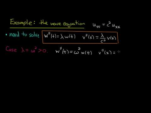 PDE 13 | Wave equation: separation of variables
