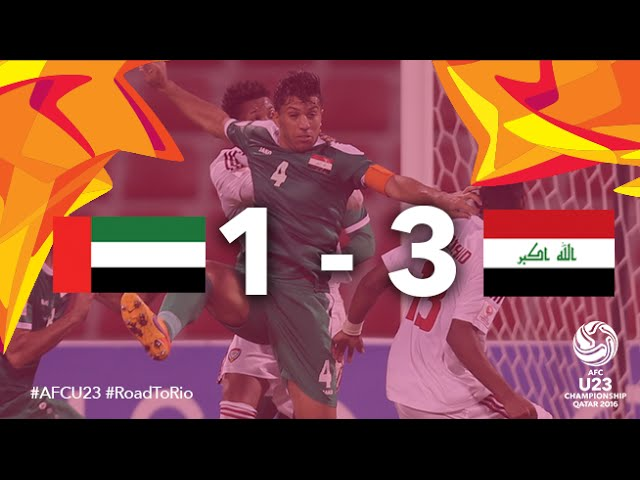 Video: U23 UAE vs U23 Iraq