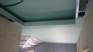 как сделать потолок с подсветкой, из профиля CD. Plasterboard ceiling.(, 2015-07-30T05:18:59.000Z)