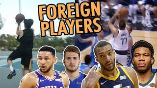 NBA SIGNATURE MOVES: FOREIGN PLAYERS! (Doncic, Gobert, Jokic) // Fung Bros NBA Signature Moves