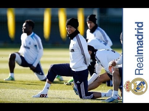 Real Madrid completed their penultimate training session before hosting Real Sociedad