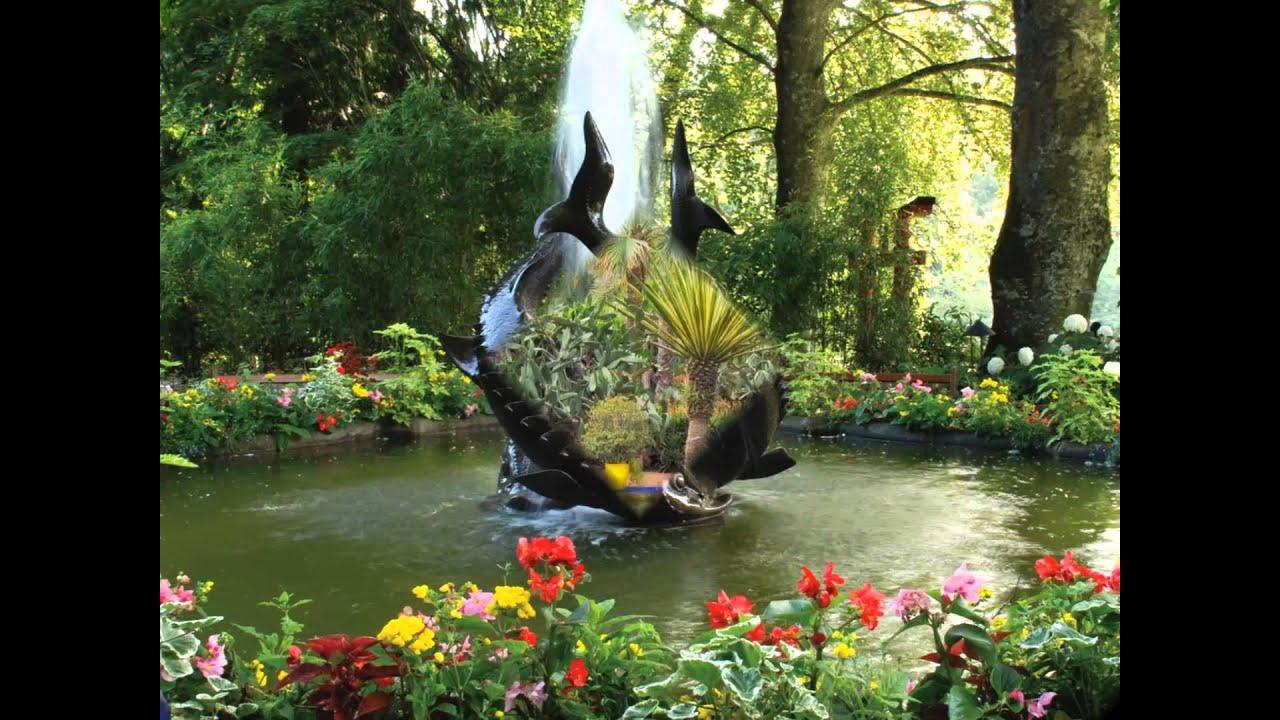 """Красивые сады мира. Музыка Иоганн Штраус """"На прекрасном ..."""