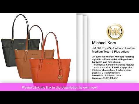 Michael Kors Jet Set Top Zip Saffiano Leather Medium Tote 13 Plus colors 2e2882f047