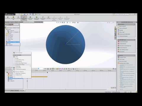 SOLIDWORKS Motion 2015 - Creating a motion study