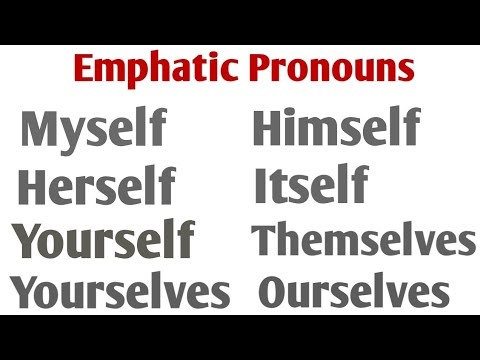 Myself, yourself, ourselves, himself, herself, themselves, itself, Reflexive Pronoun Sikhe part 18.