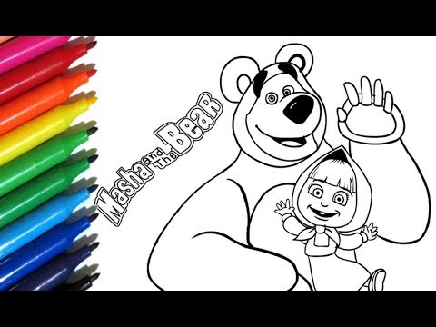 Coloring Pages MASHA And The BEAR 2 How To Paint Masha E O Urso - Color  Toys For Kids - YouTube