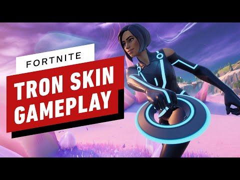 Fortnite x Tron Crossover Victory Royale Gameplay