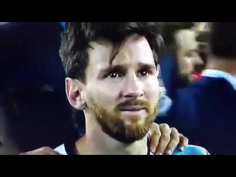 Слёзы Месси после поражения в финале Кубка Америки 2016