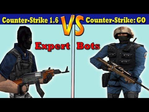 Counter Strike 1.6 Vs CS GO Expert Bots