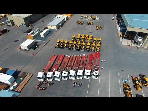 Одновременная отгрузка 10 машин JCB 3CX заказчику