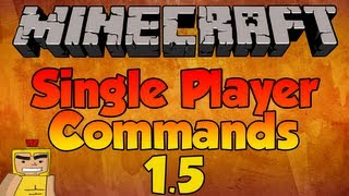 How to use NEW Single Player Commands - Minecraft 1.8