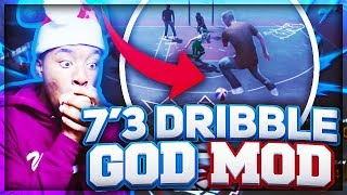 *NEW* 7'3 DRIBBLE GOD MOD!? 55 PAINT PROTECTOR & 7'3 DRIBBLE GAWD TEAM UP! NBA 2K18