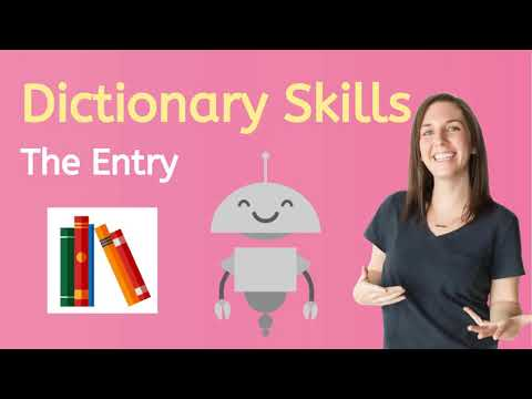 How to Read a Dictionary Entry