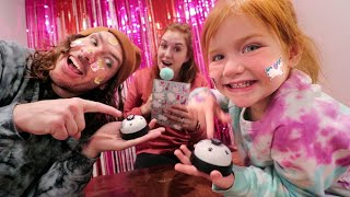 DiSNEY MOViE CHALLENGE!! Adley vs Dad playing a new princess trivia game show inside with Mom!