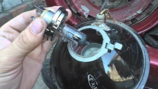 Замена ламп передних фар ВАЗ 2101 на галогенные
