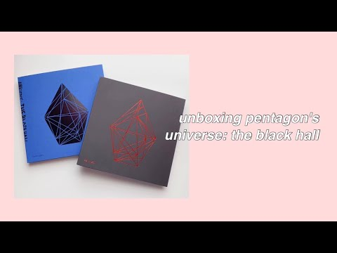 unboxing pentagon's first album [universe: the black hall]