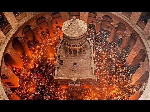 В храме Гроба Господня в Иерусалиме сошел Благодатный огонь