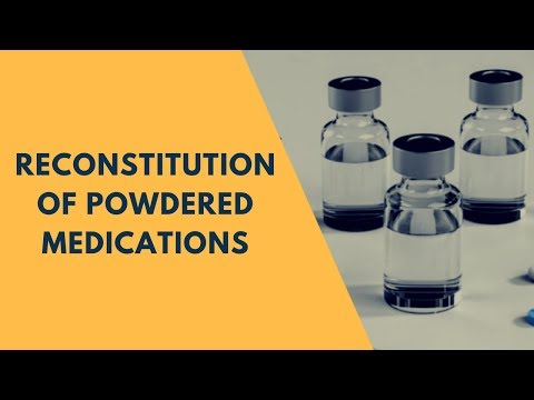 Pharmaceutical Calculations  | Reconstitution of Powdered Me
