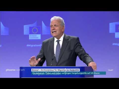 Rede von EU-Innenkommissar Dimitris Avramopoulos zum Thema Migration am 21.06.18