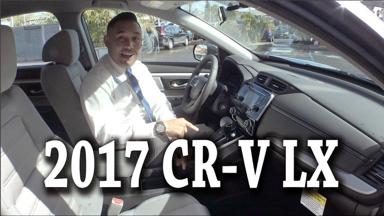 Crv 2017 Interior >> 2017 Honda CR V 2WD LX exterior & interior Review - YouTube