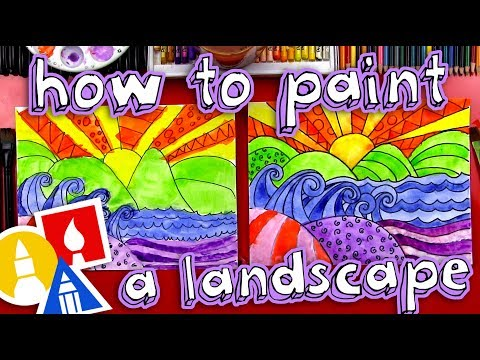 How To Paint A Beautiful Landscape (for kids)