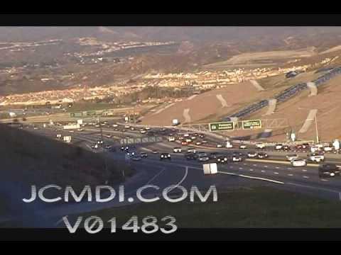 Time lapse traffic Antelope Valley freeway 14 V01483