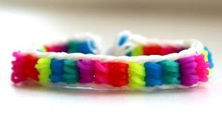 РАДУЖНЫЙ БРАСЛЕТ из резинок Raibow loom. Как плести браслет из резинок. Rainbow loom bracelet