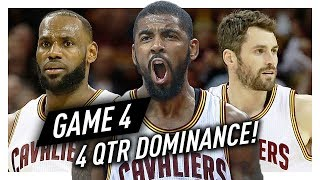 LeBron James, Kyrie Irving & Kevin Love ECF Game 4 Highlights vs Celtics 2017 Playoffs - CRAZY GOOD!