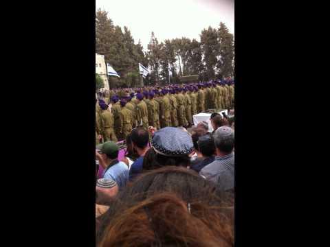 Yitzchak Yair Glasser purple Givati Brigade beret Hatikva