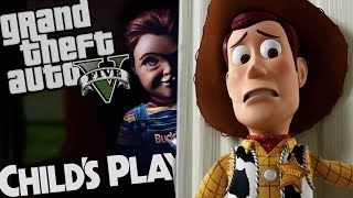 The NEW Childs Play VS NEW Toy Story 4 MOD (GTA 5 PC Mods Gameplay)