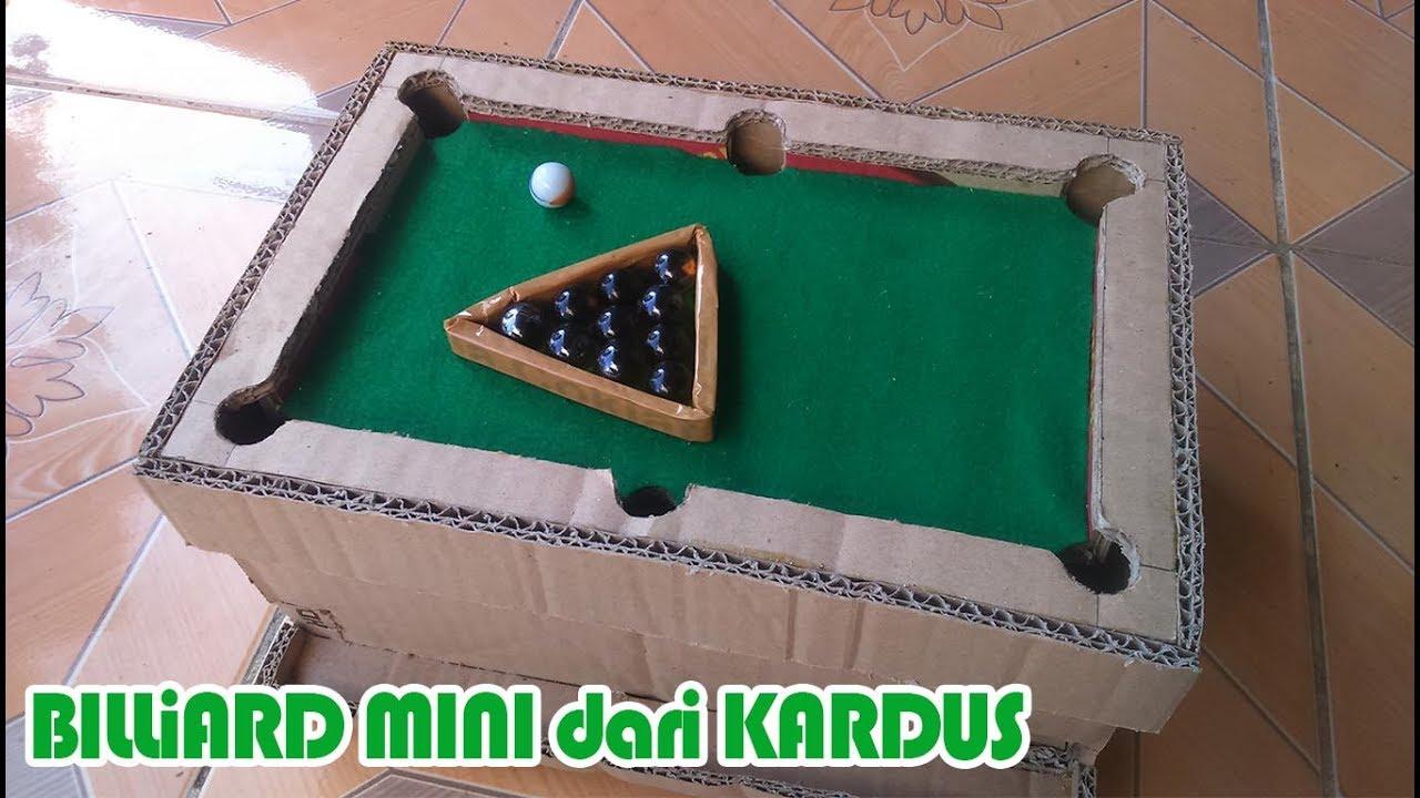 Membuat Mini Billiard Dari Kardus Kreatif Inspiratif Diy Make From Cardboard