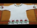 #PART-1 Beautiful Floral Sweater For Girls:DESIGN-26