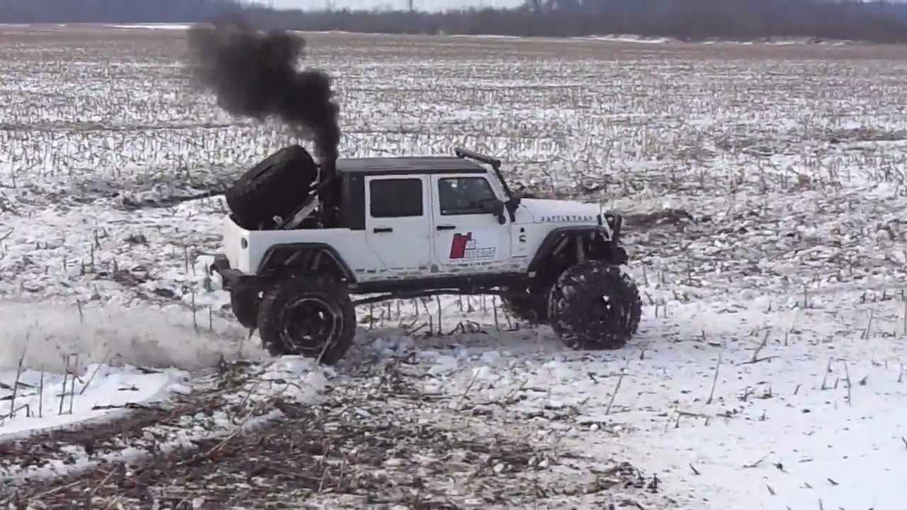 Cummins Turbo Diesel >> Rattletrap Playing In The Snow (Part 2) - YouTube