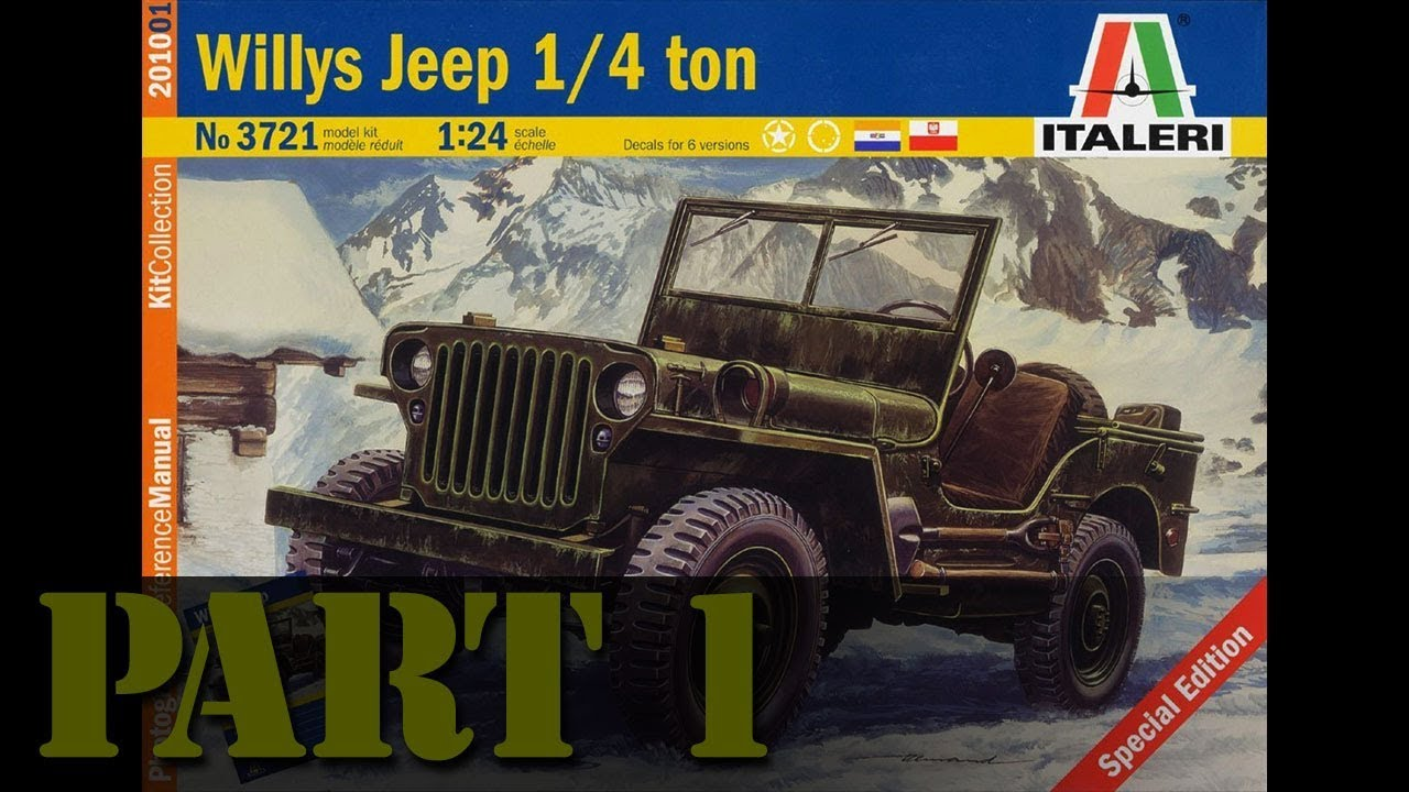 Building The 1 24 Scale Kelly S Heroes Jeep Part 1 Youtube