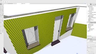Archicad 21 aksesuar duvar ek LDK AC profilleri kullanarak