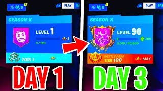 HOW TO LEVEL UP FAST + MAX BATTLE PASS TIER SEASON X - Level Up Guide Fortnite season 10