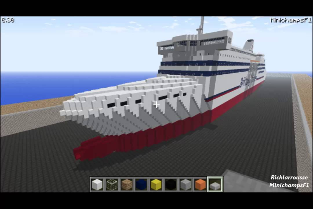 Minecraft Brittany Ferries Mv Cap Finistere Youtube