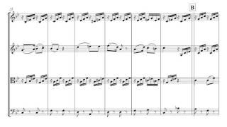 Mozart Cherubino's Aria Voi che sapete | String Quartet Sheet Music